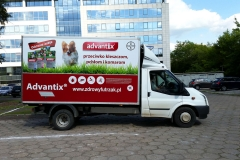 Oklejanie samochodów Warszawa - BAYER_busdostawczy