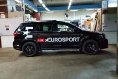 Oklejanie samochodów Warszawa - Eurosport_reklama
