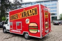 Oklejanie samochodów Warszawa - FoodTruck_burger