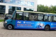 Oklejanie samochodów Warszawa - ProcterGamble_bus