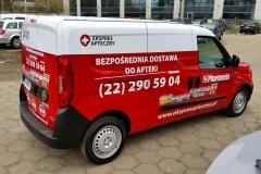 Oklejanie samochodów Warszawa - SerwisApteczny_reklama
