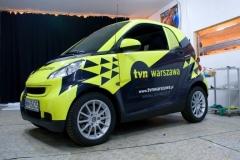 Oklejanie samochodów Warszawa - tvnwarszawa-smart5